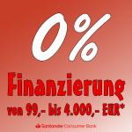 0% Finanzierung ab 99,-€ bis 4.000,- €