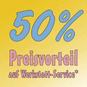Firlefanz Club Vorteil - 50% Preisvorteil auf Werkstattservice