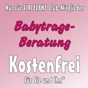 Firlefanz Club Vorteil - kostenfreie Babytrageberatung
