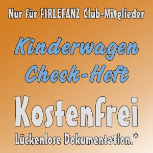 Firlefanz Club Vorteil - Kinderwagen Check-Heft
