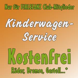 Firlefanz Club Vorteil - kostenfreier Kinderwagenservice