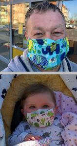 Wir machen mit und tragen Maske